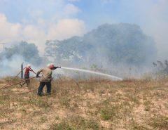Em Natal, incêndio destrói vegetação às margens do prolongamento da Prudente