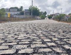Macaíba: Distrito de Mangabeira recebe pavimentação em várias ruas
