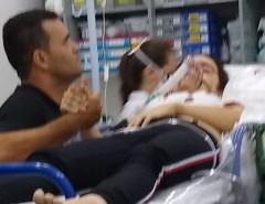 Imagens do Caso Renata Ranyelle: Suspeito de atirar em ex-namorada aparece em foto segurando a mão da vítima no hospital após o crime