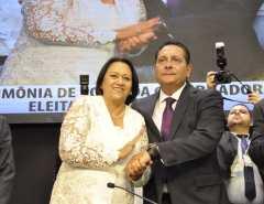 Choque da governadora Fátima com o presidente Ezequiel