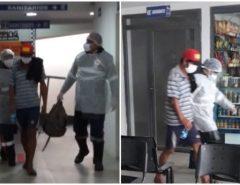 Pânico: Homem com febre e tosse é retirado de ônibus da Guanabara em terminal rodoviário no Sertão da PB