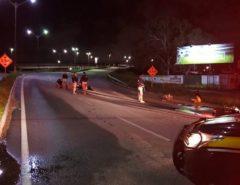 """VÍDEO: Motociclistas são presos após """"racha"""" na BR 101 em Parnamirim"""