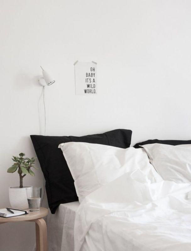 desain kamar tidur minimalis monokrom
