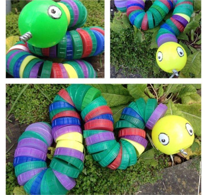 Mainan dari Botol Bekas - Ular-ularan