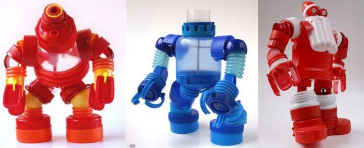 Mainan dari Botol Bekas - Pasukan Robot