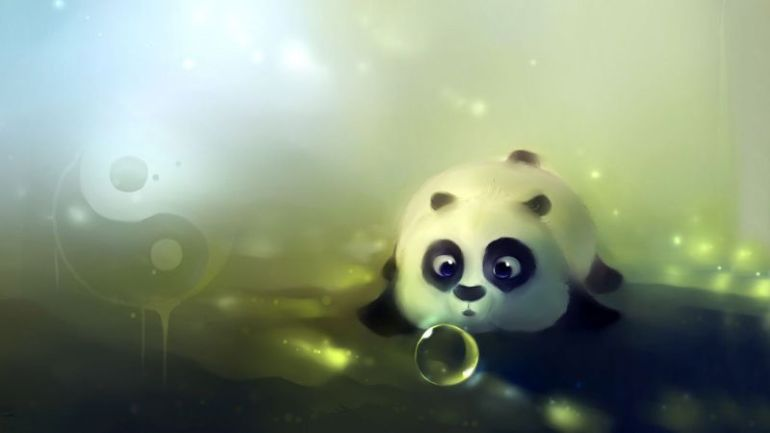 Background Kartun Panda