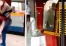 VIDEO: Dos hombres se enfrentan a golpes en una estación y vagón de tren en Londres