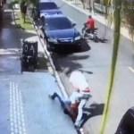 """VIDEO: Mujer """"se va a los puños"""" con atracador en Santiago"""