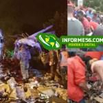 Video   Dan 'primeros auxilios' al romo de camión accidentado en Puerto Plata