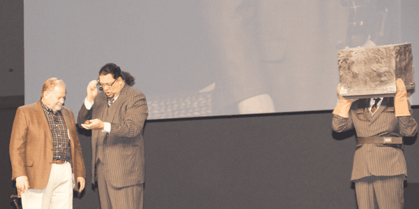 The opening keynote began with a brief illusion from the world-famous act, Penn & Teller.