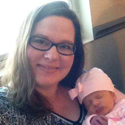 Kristal Carlson with 3 days old daughter Eden. (Courtesy of the Carlson family)
