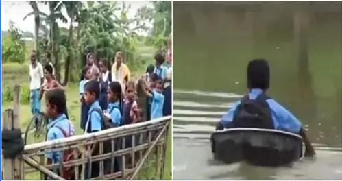 Edhe pse lumi është i rrëmbyeshëm, ata e bëjnë këtë gjë çdo ditë, duke rrezikuar edhe jetën e tyre.