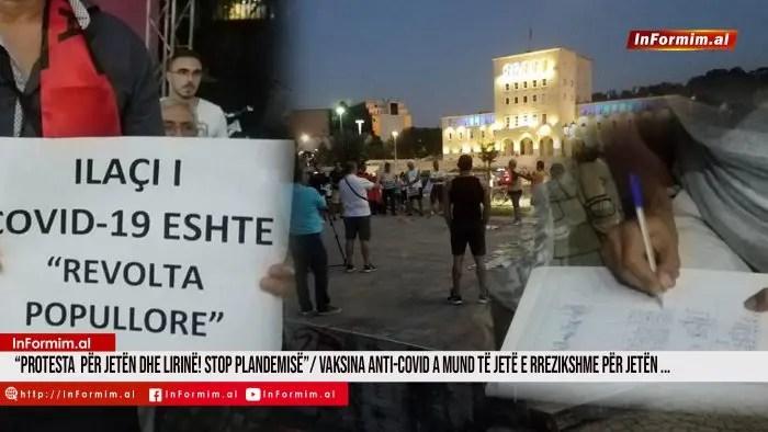 """""""Protesta  për jetën dhe lirinë! Stop plandemisë""""/ Vaksina Anti-Covid a mund të jetë e rrezikshme për jetën dhe si eksperimentale të sjellë vdekje masive"""