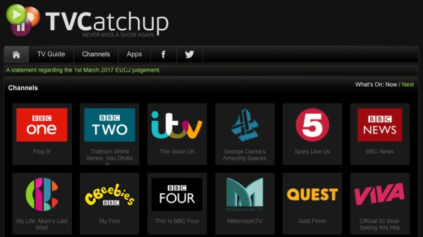 Legal ruling on TVCatchup | informitv