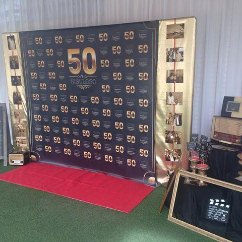 decoracion 50 cumpleaños photocall santander cantabria