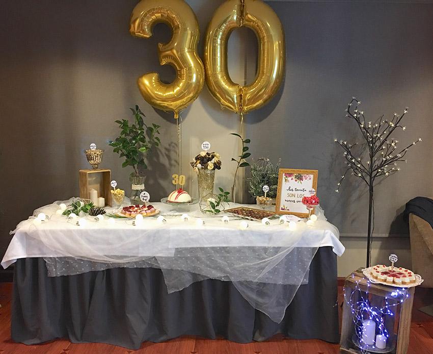 decoracion 30 cumpleñaos globos santander cantabria