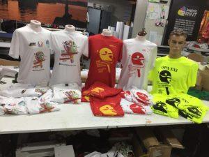 Serigrafia camisetas para mundial de palas santander 2017