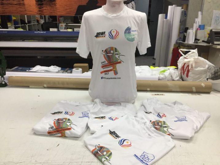 Sublimacion sobre camiseta tecnica mundial de palas santander