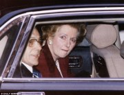 Thatcher Leaving Downing Street