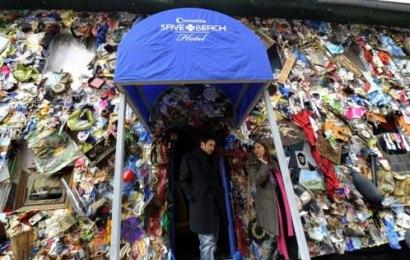 Info Santai: Hotel Ini Diperbuat Daripada Sampah Sarap
