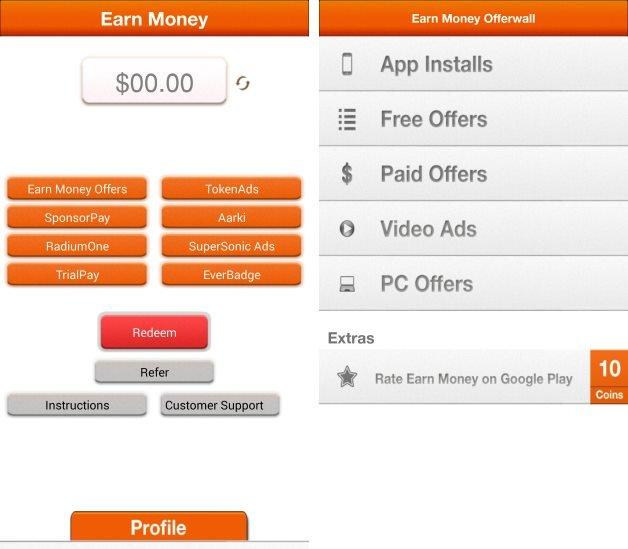 buat duit guna aplikasi earnmoney