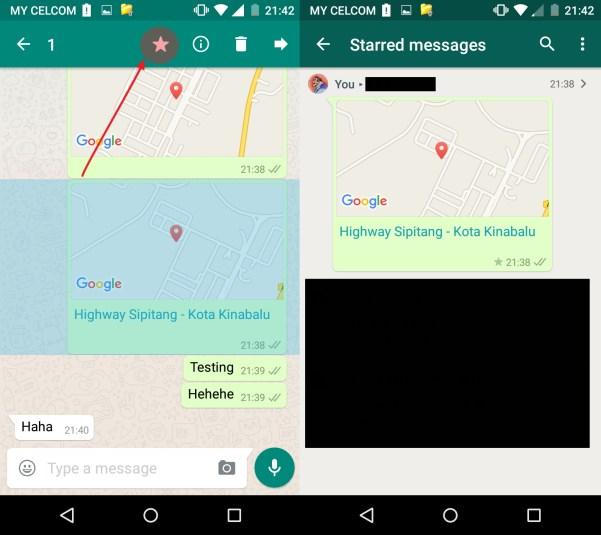 Cara menanda msg penting dalam whatsapp