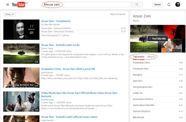 Alum penuh artist di youtube