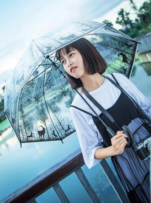 hadiah untuk wanita payung lutsinar