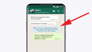 WhatsApp ability send disappearing messages
