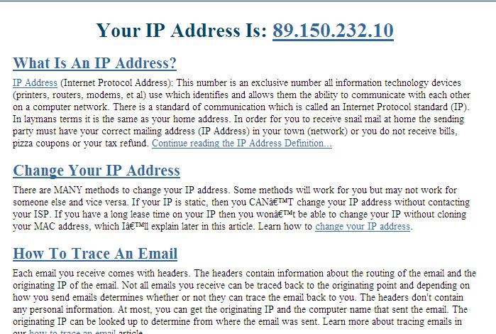 Your IP Address