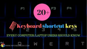 most useful keyboard shortcut keys