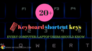 most useful keyboard shortcut keys