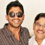 allu arjun with his father allu arvind