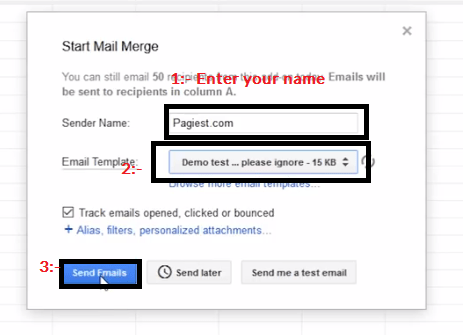 mail send from gmail