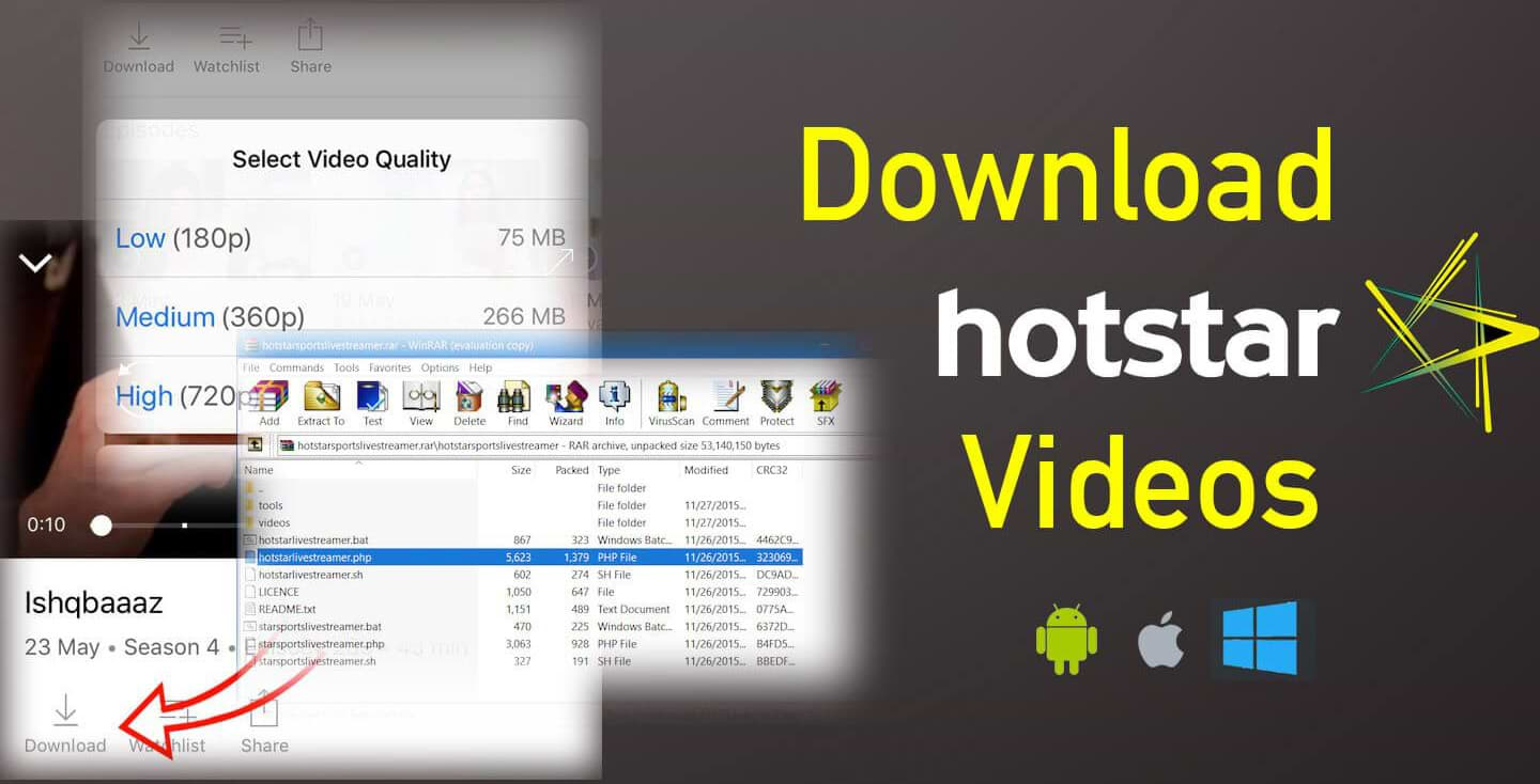 download hotstar video