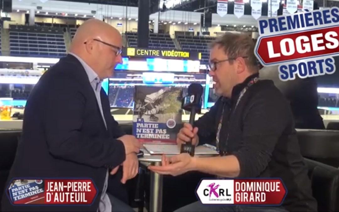 Premières Loges Sports rencontre Jean Pierre D'Auteuil dans le cadre du 60 tournoi Pee Wee de Québec