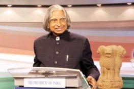 A. P. J. Abdul Kalam indian president