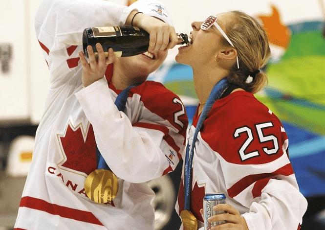 Photo of Canadian Women's Hockey Team Party Like Rock Stars