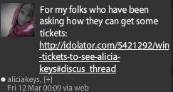 Alicia Keys Tweet