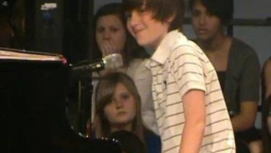Photo of Greyson Chance Doing What He Does Best