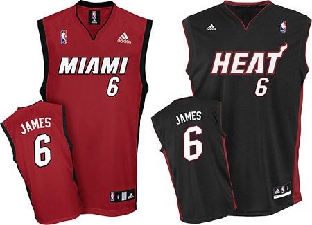 new concept 6ac70 44b2a Lebron James Miami Heat Jersey