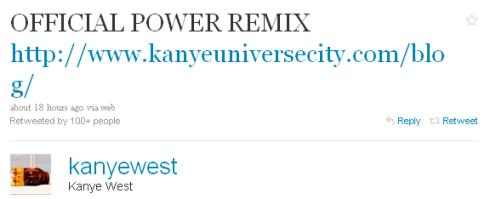 Kanye West: Power, the Remix [audio] 1