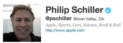 Follow Phil Schiller on Twitter 1