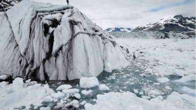 Photo of Chasing Ice: 7.4 cubic km of ice crashing into the ocean