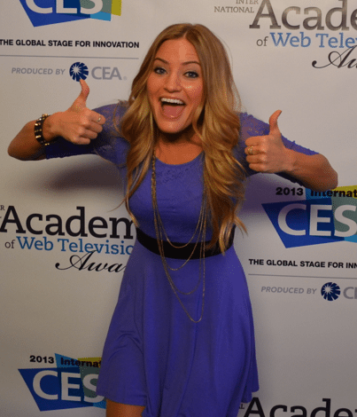 Photo of Justine Ezarik – IAWTV Awards 2013 – Red Carpet