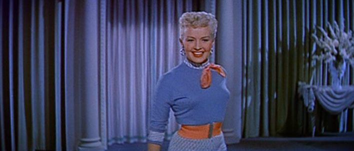 Cropped screenshot of Betty Grable in the trai...