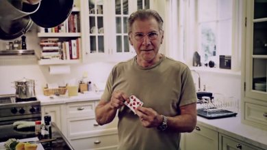 Photo of Harrison Ford and David Blaine