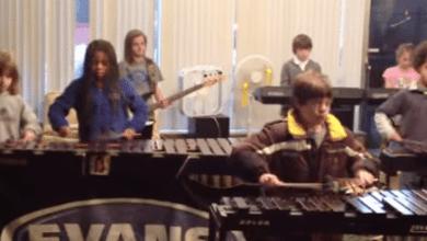 Photo of Kids Perform Ozzy's 'Crazy Train' On Xylophones!