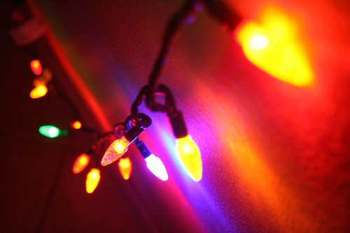 Incandescent Christmas Lights.Battle Of The Bulb