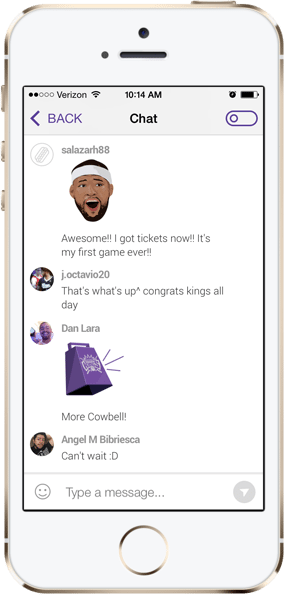 Sacramento Kings and Frankly Inc. to Provide Chat Features to Team's Website and Mobile App 1